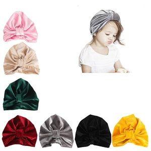 Infant Velour Turbans, Set of (7)
